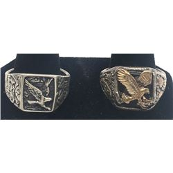 2-MEN'S EAGLE RINGS BEAUTIFUL DESIGNS!