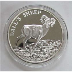 TWO TROY OUNCES .999 FINE SILVER - DALL'S SHEEP
