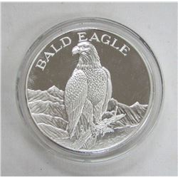 TWO TROY OUNCES .999 FINE SILVER - BALD EAGLE