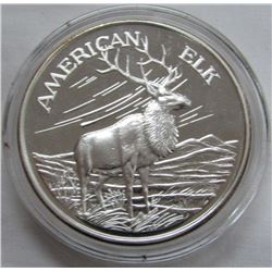 TWO TROY OUNCES .999 FINE SILVER - AMERICAN ELK