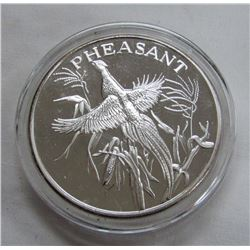 TWO TROY OUNCES .999 FINE SILVER - PHEASANT