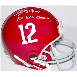 Eddie Lacy Signed Alabama Full-Size Authentic Pro-Line Helmet Inscribed  2x BCS Champ!  (Radtke COA)
