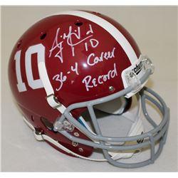 AJ McCarron Signed Alabama Crimson Tide Full-Size Helmet Inscribed  36-4 Career Record  (Radtke COA)