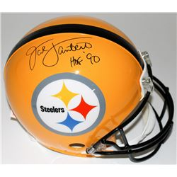"Jack Lambert Signed Steelers Full-Size Authentic Pro-Line Helmet Inscribed ""HOF '90"" (Radtke COA  La"