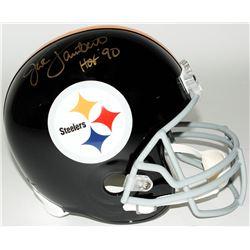 Jack Lambert Signed Steelers Full-Size Helmet Inscribed  HOF '90  (JSA COA)