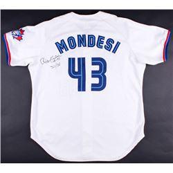 Raul Mondesi Signed Game-Used Blue Jays Jersey Inscribed  30/30  (JSA ALOA)