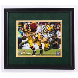 "Clay Matthews Signed 13.5""x15.5"" Custom Framed Photo Display (Matthews Hologram)"