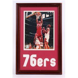 "Clarence Weatherspoon Signed 76ers 12""x18.5"" Custom Framed Photo Display (JSA COA)"