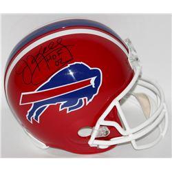 "Jim Kelly Signed Bills Full-Size Helmet Inscribed ""HOF 02"" (Steiner COA)"