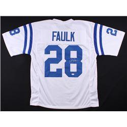 Marshall Faulk Signed Colts Jersey (JSA COA)