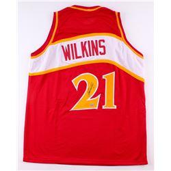 Dominique Wilkins Signed Hawks Jersey (TriStar Hologram)