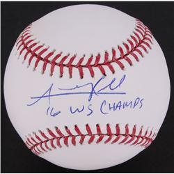 "Addison Russell OML Baseball Inscribed ""16 WS Champs"" (MLB Hologram)"