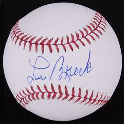 Lou Brock Signed OML Baseball (MLB Hologram)