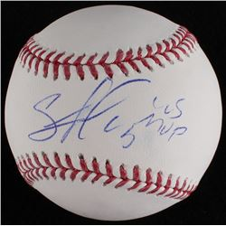 "Salvador Perez Signed OML Baseball Inscribed ""WS MVP"" (MLB Hologram)"