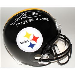 Hines Ward Signed Steelers Full-Size Helmet Inscribed  Steeler 4 Life  (JSA COA)