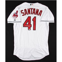 Carlos Santana Signed Indians Jersey (MLB Hologram)
