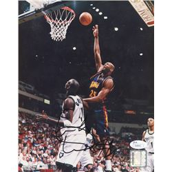 Erick Dampier Signed Warriors 8x10 Photo (JSA COA)