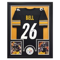 Le'Veon Bell Signed Steelers 34  x 42  Custom Framed Jersey (JSA COA)