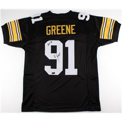 Kevin Greene Signed Steelers Jersey Inscribed  HOF-16  (Radtke COA)