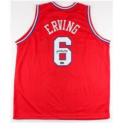 """Julius """"Dr. J"""" Erving Signed 76ers Jersey (Radtke COA)"""