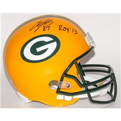 "Eddie Lacy Signed Packers Full-Size Helmet Inscribed ""ROY '13"" (Lacy Hologram)"