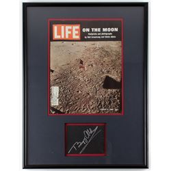 Buzz Aldrin Signed 18x24 Framed Cut Display (JSA ALOA)