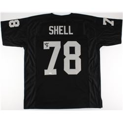"Art Shell Signed Raiders Jersey Inscribed ""HOF 89"" (JSA COA)"