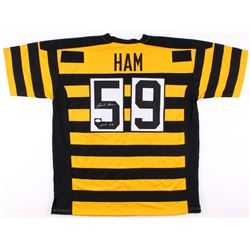 "Jack Ham Signed Steelers Jersey Inscribed ""HOF 88"" (JSA COA)"