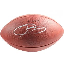 "Odell Beckham Jr. Signed ""The Duke"" Custom Engraved Official NFL Game Ball (Steiner COA)"