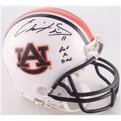 "Chris Davis Jr. Signed Auburn Mini-Helmet Inscribed ""Got A Sec"" (Radtke COA)"