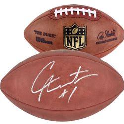 """Cam Newton Signed """"The Duke"""" Official NFL Game Ball (Fanatics Hologram)"""
