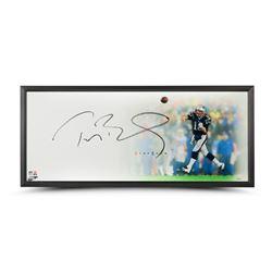 "Tom Brady Signed Patriots ""Epic"" 32x40 Custom Framed Limited Edition Photo (Steiner COA  TriStar Hol"