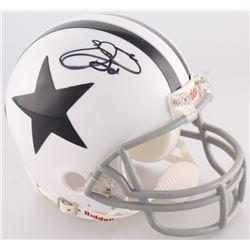Emmitt Smith Signed Cowboys Mini-Helmet (Smith Hologram)