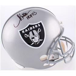"""Marcus Allen Signed Raiders Full-Size Helmet Inscribed """"HOF 03"""" (Radtke COA  Allen Hologram)"""
