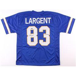 "Steve Largent Signed Tulsa Golden Hurricanes Jersey Inscribed ""'75 All-American"" (Radtke COA)"