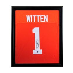 Jason Witten Signed Tennessee Volunteers 27x33 Custom Framed Jersey (Radtke COA)