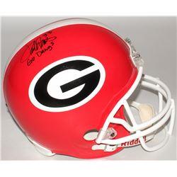 "Terrell Davis Signed University of Georgia Full-Size Helmet Inscribed ""Go Dawgs"" (Radtke COA  Davis"