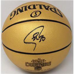 Stephen Curry Signed 2015 NBA Champions Basketball (Fanatics Hologram)
