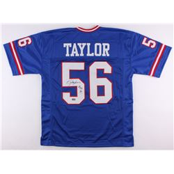 "Lawrence Taylor Signed Giants Jersey Inscribed ""H.O.F. 99"" (Radtke COA)"