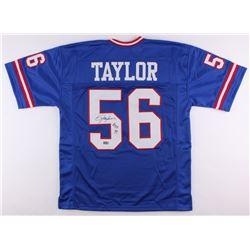 "Lawrence Taylor Signed Giants Jersey Inscribed ""H.O.F. 99"" (Radtke COA)"
