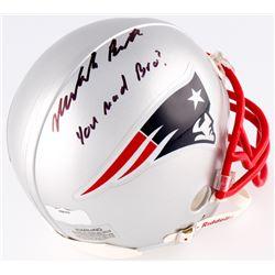 "Malcolm Butler Signed Patriots Mini-Helmet Inscribed ""You Mad Bro?"" (Radtke  Fanatics Hologram)"
