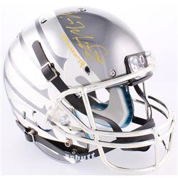 """Marcus Mariota Signed Oregon Ducks Custom Chrome Full-Size Helmet Inscribed """"Heisman '14"""" (Radtke CO"""