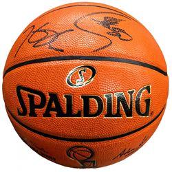 Stephen Curry  Kevin Durant Signed LE 2016 NBA Finals Basketball (Panini COA  Steiner COA)