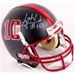 AJ McCarron Signed Alabama Crimson Tide Custom Matte Black Full-Size Authentic On-Field Helmet  (Rad