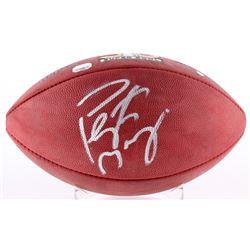 Peyton Manning Signed Super Bowl 50 Logo Football (Steiner COA  Fanatics Hologram)