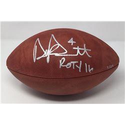"""Dak Prescott Signed LE Wilson NFL """"The Duke"""" Football Inscribed """"ROTY 16"""" (Steiner COA)"""