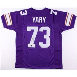 """Ron Yary Signed Vikings Jersey Inscribed """"HOF 01"""" (Jersey Source COA)"""