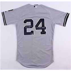 """Gary Sanchez Signed Limited Edition Yankees Jersey Inscribed """"ML Debut 10/3/15"""" (Steiner COA)"""