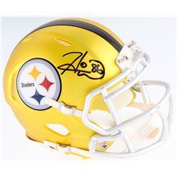 Hines Ward Signed Steelers Blaze Mini Helmet (JSA COA)
