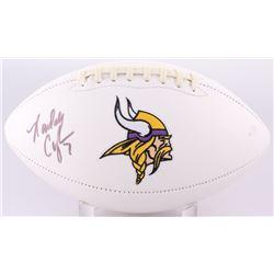 Randall Cunningham Signed Vikings Logo Football (JSA COA)